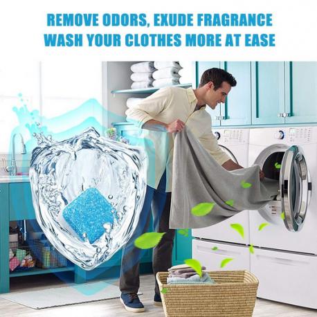 con estas pastillas mi lavadora siempre está fresca y limpia, y la ropa libre de olores
